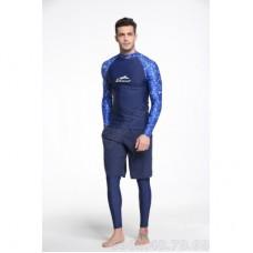 Áo Bơi Nam Dài Tay Chống Nắng Chống UV Sbart 776 Xanh