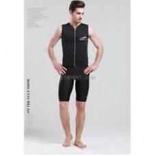 Áo Bơi Nam Wetsuit Dạng Vest Gile Giữ Nhiệt Sbart - Đen