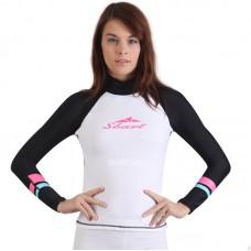 Áo Bơi Dài Tay Nữ Sbart 916 - Trắng Tay Đen
