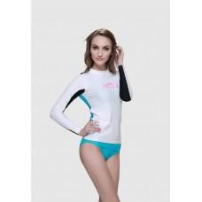 Áo Bơi Dài Tay Nữ Sbart 923 - Trắng Xanh Đen