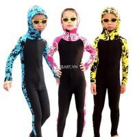 Bộ Bơi Liền Dài Tới Gót Trẻ Em 1011 - Màu Xanh