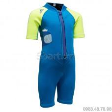 Bộ Bơi Liền Giữ Nhiệt (Wetsuit 2mm) Sbart 1036 Trẻ Em - Xanh