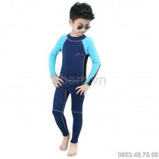 Bộ Bơi Liền Quần Dày Giữ Nhiệt Trẻ Em 8012 Xanh