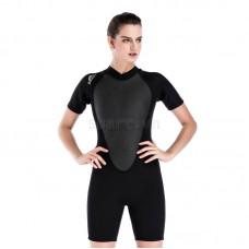 Bộ Lặn Nữ Wetsuit Sbart 1100 Dày 2mm Đen