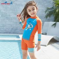 Bộ Bơi Trẻ Em Rời Dài Tay DS32 Cam Xanh