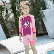 Bộ Bơi Trẻ Em Rời Dài Tay DS32 Hồng Tím
