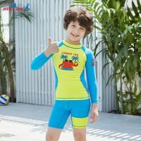Bộ Bơi Trẻ Em Rời Dài Tay DS33 Xanh Vàng