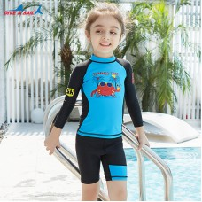 Bộ Bơi Trẻ Em Rời Dài Tay DS33 Xanh Đen