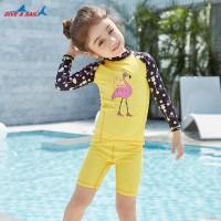 Bộ Bơi Trẻ Em Rời Dài Tay DS34 Vàng Tay Đen