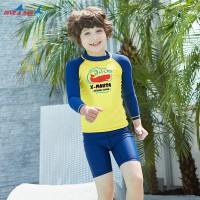 Bộ Bơi Trẻ Em Rời Dài Tay DS35 Vàng Tay Xanh