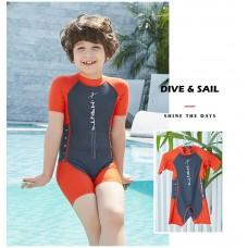 Bộ Bơi Trẻ Em Liền Cộc DS42 Ghi Cam
