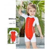 Bộ Bơi Trẻ Em Liền Cộc DS42 Đỏ Trắng