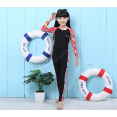 Bộ Bơi Trẻ Em Liền Thân Blue Ocean - Đen Hoa